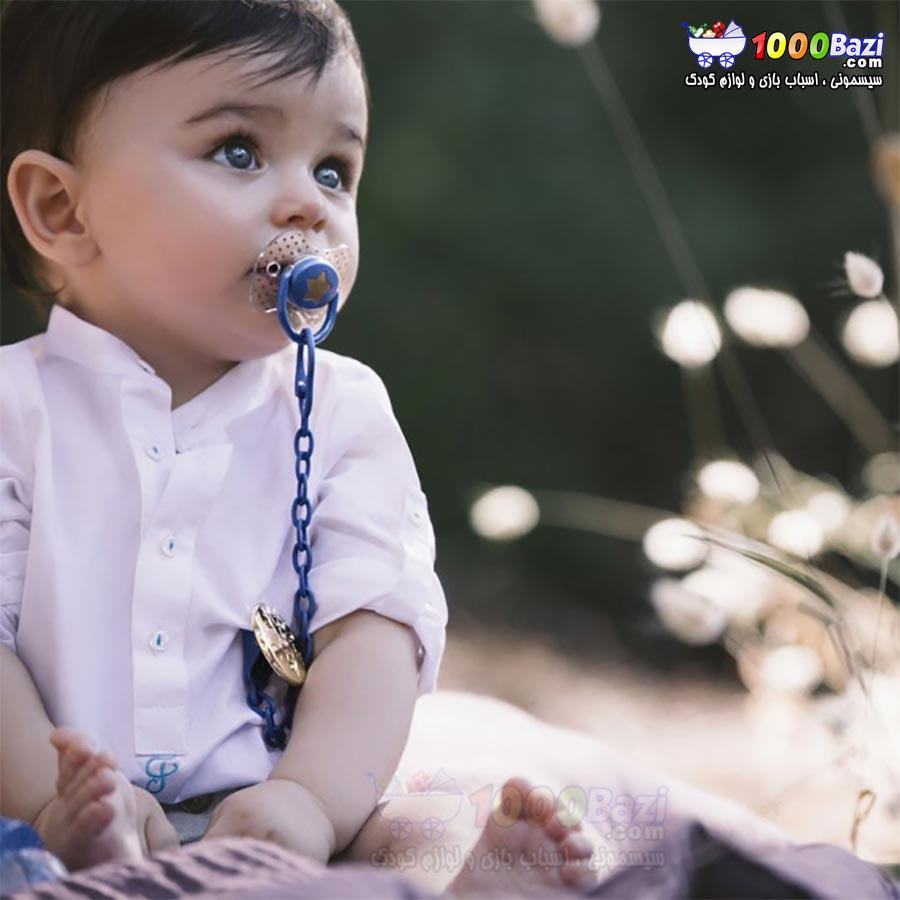 پستانک کودک پسرانه آبی ستاره Suavinex