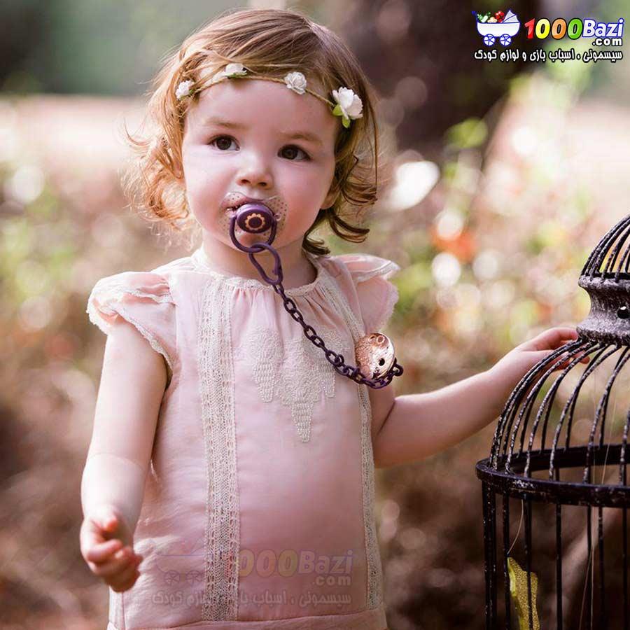 گیره پستانک کودک دخترانه بنفش Suavinex