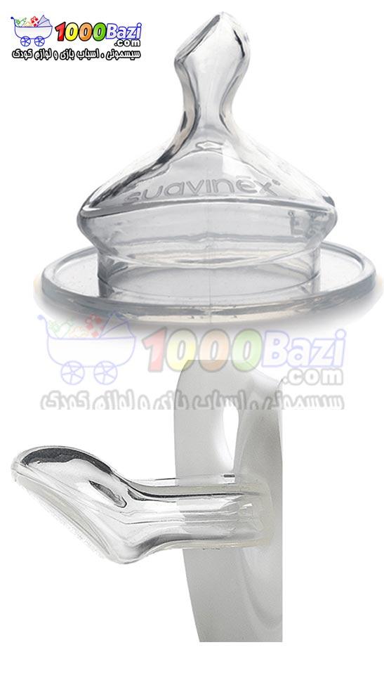 شیشه شیر نوزاد کودک دخترانه آبی 150 میل Suavinex