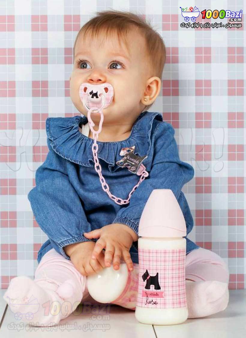 شیشه شیر پهن 270 میل کودک نوزاد دخترانه Suavinex