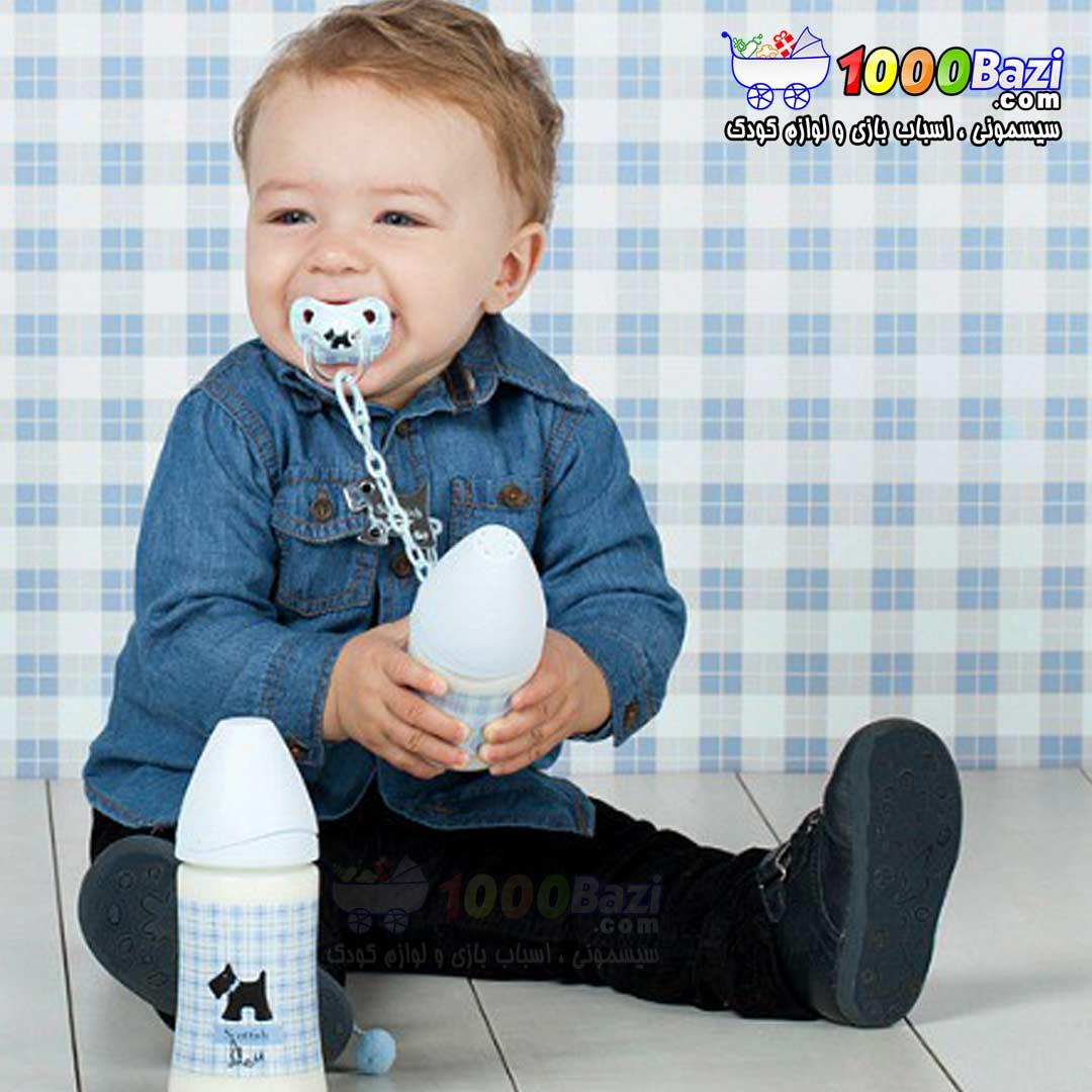 شیشه شیر پهن 270 میل پسرانه کودک Suavinex