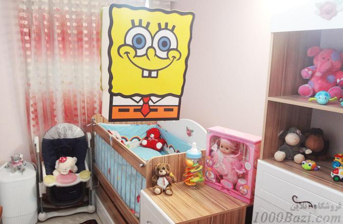 لوستر اتاق کودک نوزاد بچه باب اسفنجی