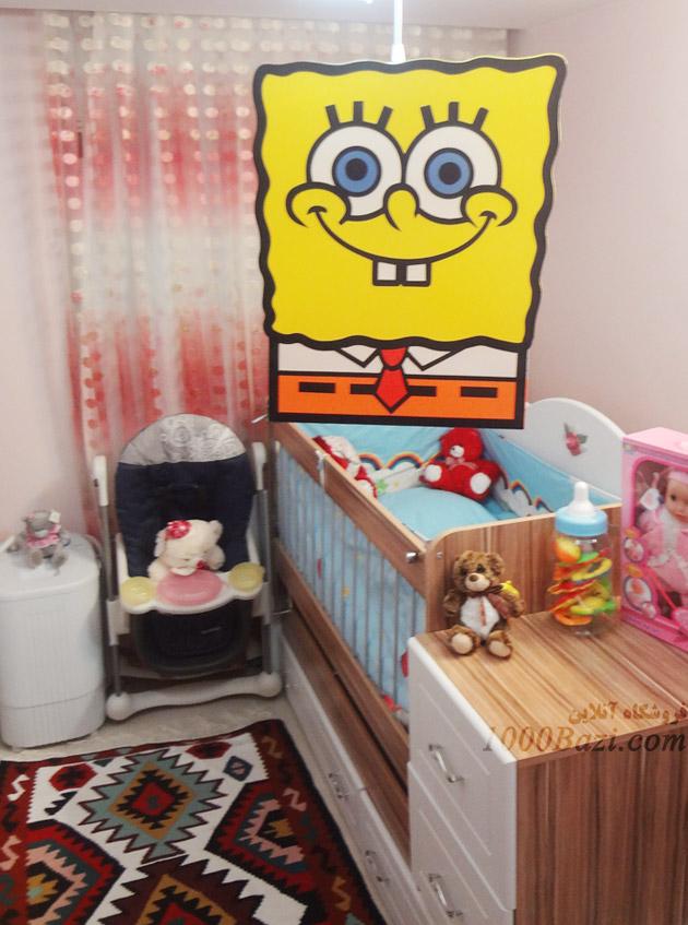 لوستر اتاق کودک نوزاد بچه پسرانه باب اسفنجی