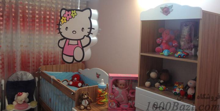 مدل لوستر اتاق کودک نوزاد بچه هلو کیتی hello kitty