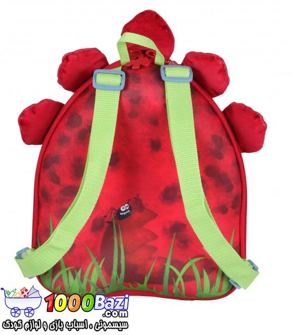 کوله پشتی پسرانه و بچه گانه طرح دایناسور قرمز Okiedog