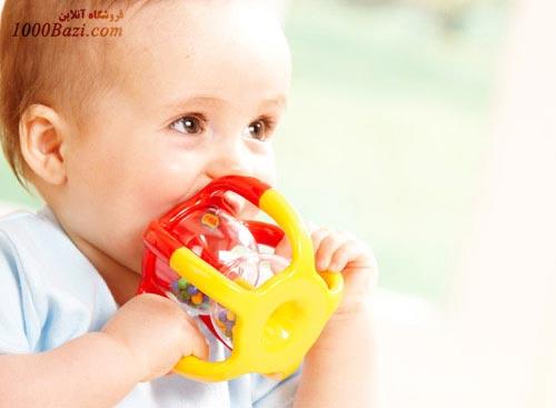 اسباب بازی نوزاد کودک جغجغه دانه رنگی تولو Tolo