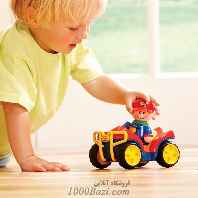 اسباب بازی کودک ماشین عقب کش جیپ قرمز تولو Tolo