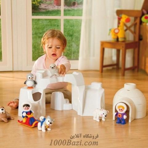 اسباب بازی اسکیمو یخی پسر سورتمه سوار کودک تولو Tolo