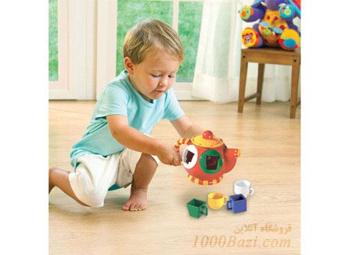 اسباب بازی تولو Tolo اسباب بازی قوری جورچین اشکال نوزاد کودک بچه