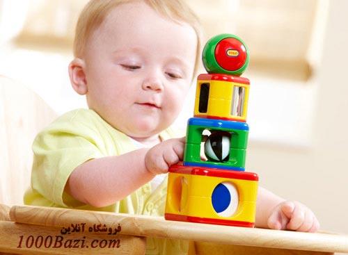 اسباب بازی پازل برج استوانه ای تولو Tolo