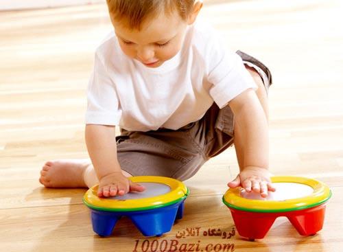 اسباب بازی کودک طبل دو طرفه تولو Tolo