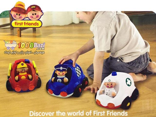 اسباب بازی کودک ماشین آمبولانس تولو Tolo