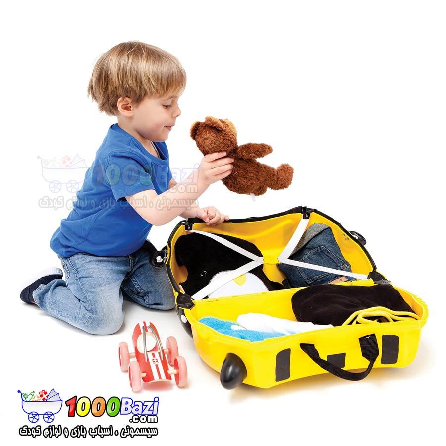 چمدان چرخدار مسافرتی طرح زنبور Trunki