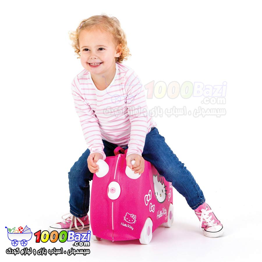 چمدان چرخدار مسافرتی طرح هلوکیتی Trunki