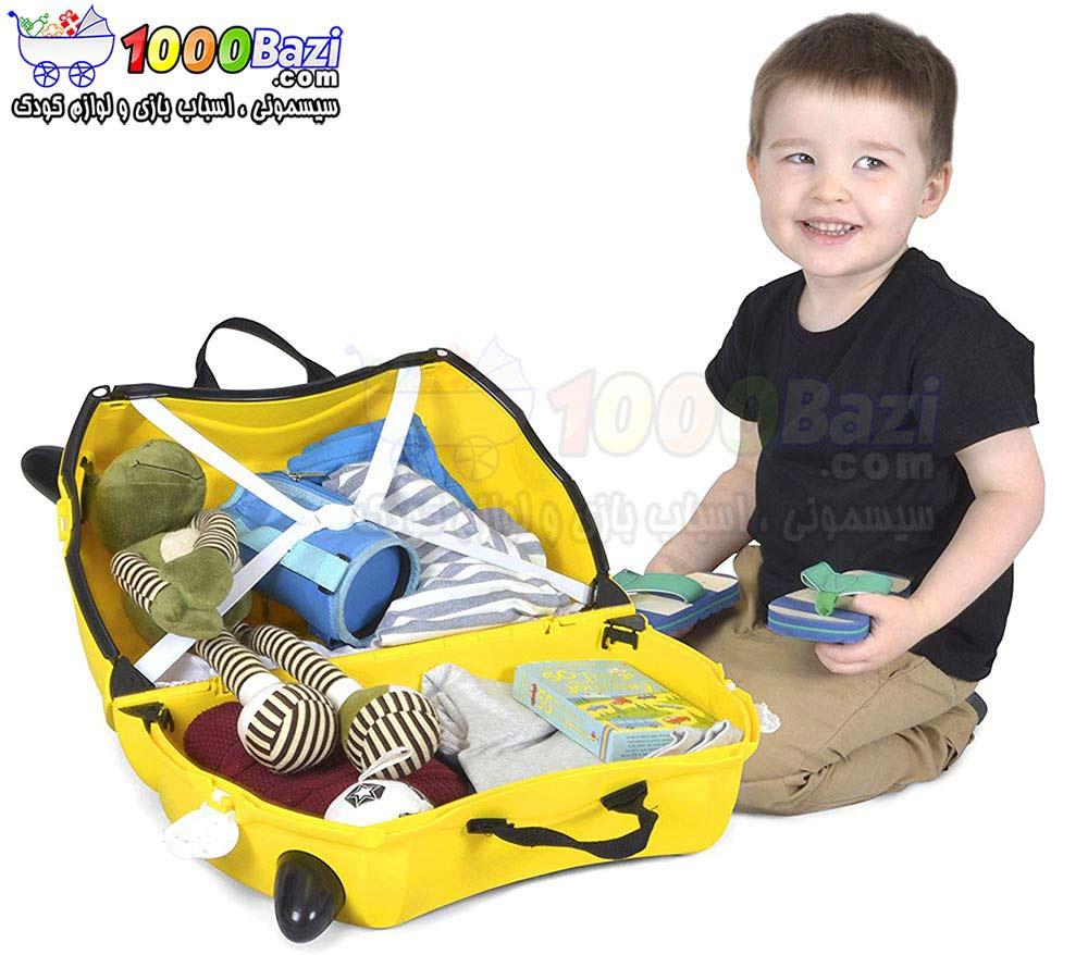 چمدان و اسباب بازی چرخدار طرح تاکسی Trunki