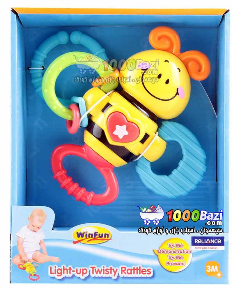 اسباب بازی جغجغه زنبور Winfun