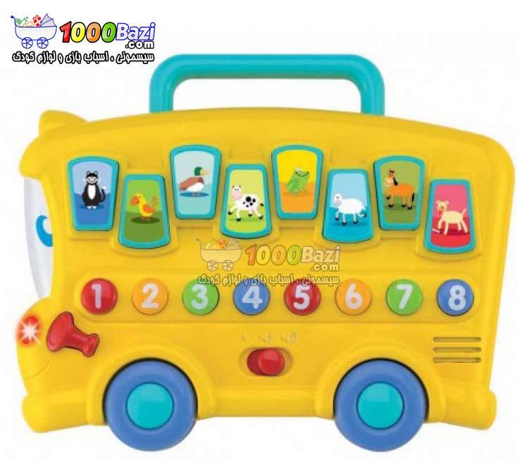 اسباب بازی اتوبوس حیوانات موزیکال کودک Winfun