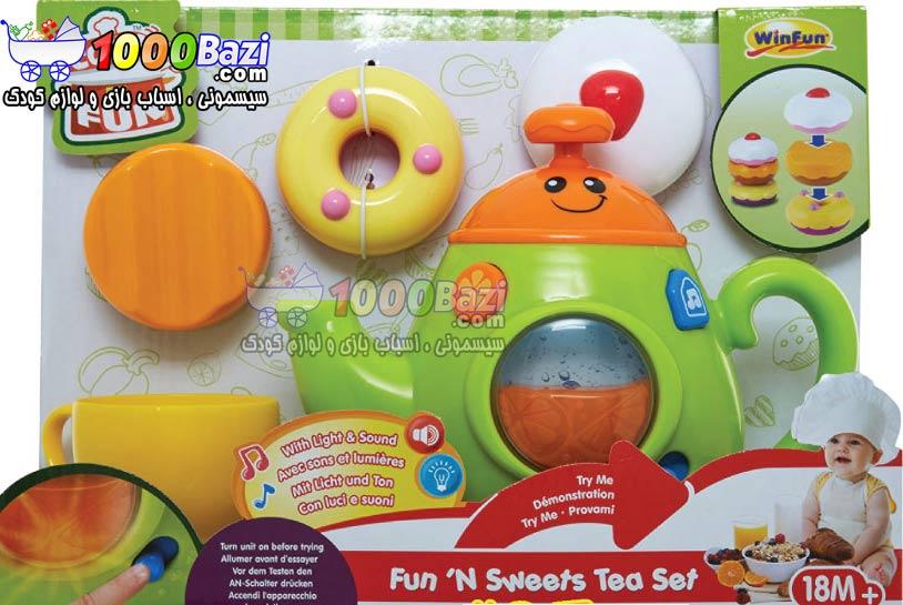 اسباب بازی دخترانه قوری و ست چای خوری موزیکال کودک Winfun