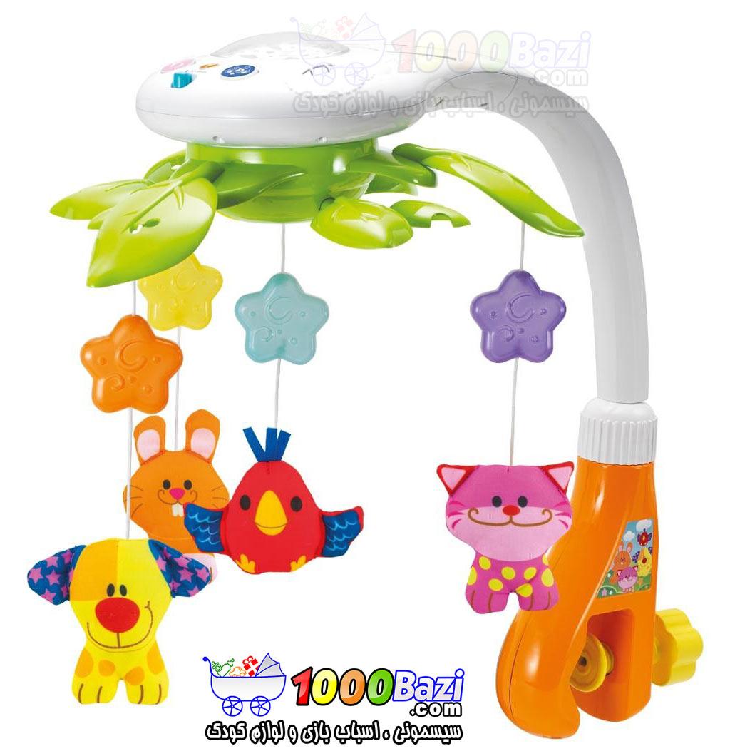اسباب بازی آویز تخت موزیکال چراغ دار نوزاد و کودک Winfun