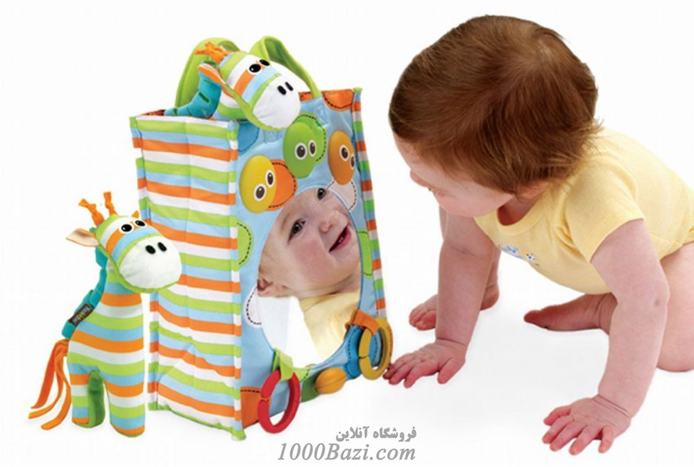 اسباب بازی آینه ای موزیکال کنار تخت نوزاد Yookidoo