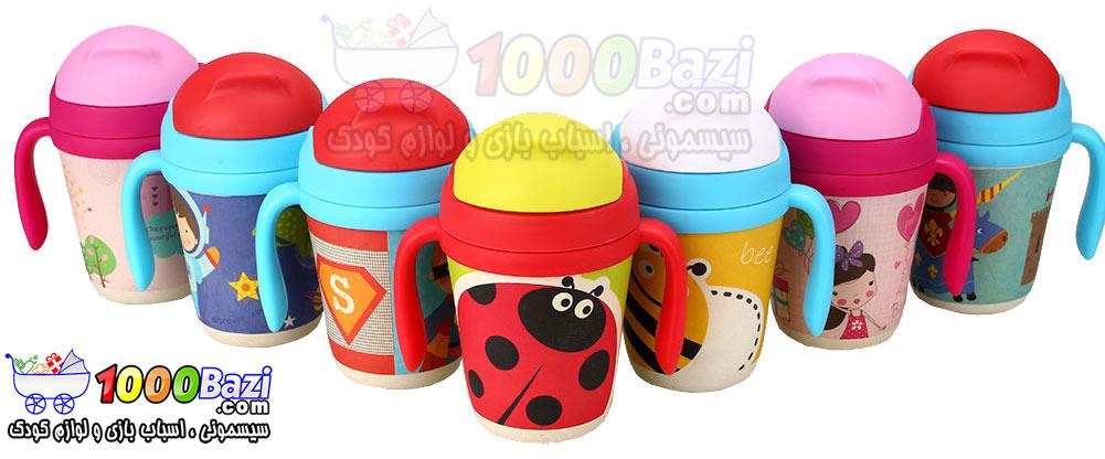 لیوان های آبمیوه خوری نی دار گیاهی کودک Yookidoo